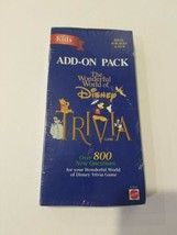 Wonderful World of Disney Family Trivia Game Add-On Pack 1998 New NOS se... - $24.14