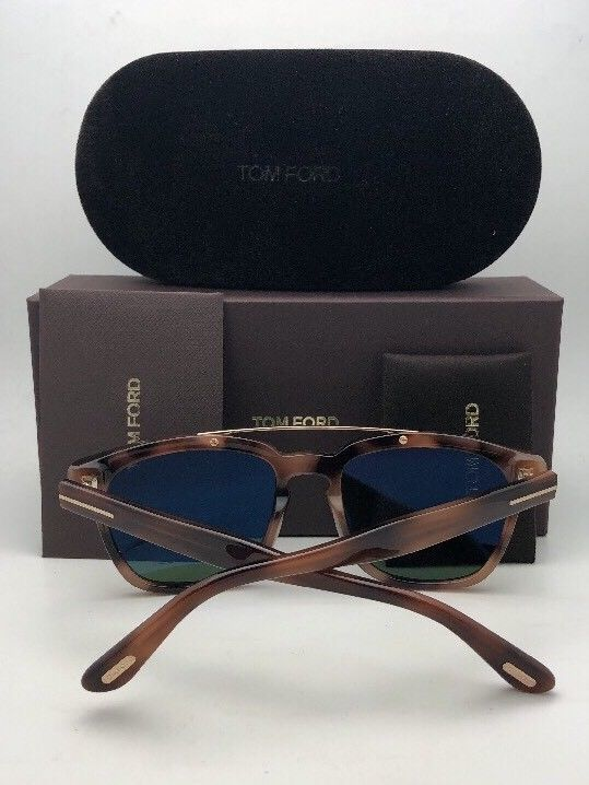 New TOM FORD Sunglasses HOLT TF 516 53N 54-19 145 Tortoise & Gold w/Green Lenses image 4