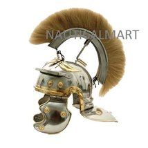 White Crested Optio Helmet with Blonde Plume By NauticalMart - $146.02