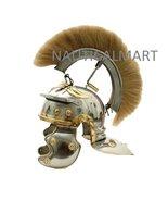 White Crested Optio Helmet with Blonde Plume By NauticalMart - $146.02