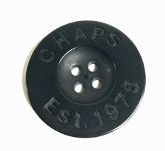 Chaps est 1978 Ralph Lauren Black Plastic Replacement Main Front button ... - $8.68