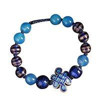 Ethnic Cloisonn Pattern Glass and Agate Bracelets Elegant Charm Bracelets image 2