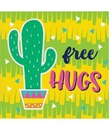 Fiesta Fun Free Hugs Cactus Beverage Napkins 16 Pack Cinco De Mayo Decor... - $6.49