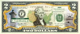 OHIO State/Park COLORIZED Legal Tender U.S. $2 Bill w/Security Features - $13.98