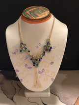 """Van Heusen New With Tags Quality Rhinestones 9"""" Necklace - £8.18 GBP"""