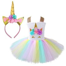 Unicorn Costume for Girls Dress Up Clothes for Little Girls Rainbow Unic... - $30.75