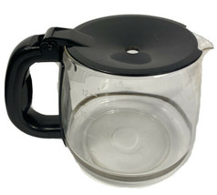 Gevalia XCC-12 12 Cup Replacement Carafe Coffee Maker Glass Pot Black Lid - $23.75