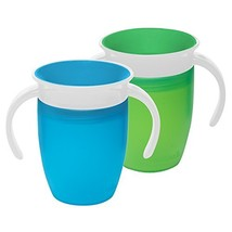 Munchkin Miracle 360 Trainer Cup, Green/Blue, 7 Ounce, 2 Count - $17.02