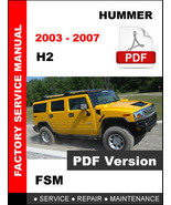 2003 - 2007 HUMMER H2 SERVICE REPAIR WORKSHOP OEM MAINTENANCE FACTORY MA... - $14.95