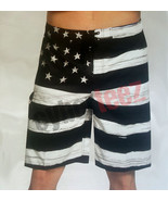 USA American Flag Old Glory BLACK Mens Board Shorts Swim Trunks Patrioti... - $14.95+