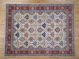 "9'3""x12'1"" Pure Wool HandKnotted Special Kazak Oriental Rug G43071 - $1,418.74"