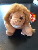 Rare 1996 Ty Beanie Baby Roary Lion with Errors P.V.C Pellets Retired KR+++ - $338.57