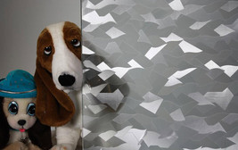 """Frosted Glass Shards Static Cling Window Film, 36"""" Wide x 82 ft - $305.42"""