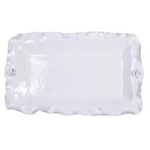 Abigails Fleur De Lis White Rectangular Platter - $96.96