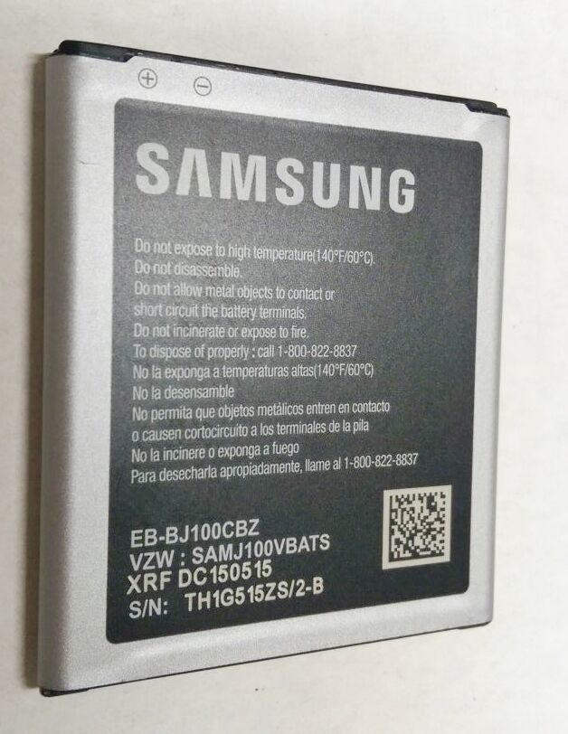 Primary image for OEM Orignal Samsung Battery Galaxy J1 SM-J100V EB-BJ100CBZ 1850mAh