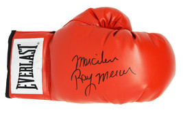 "Ray Mercer Signed Everlast Red Boxing Glove w/ ""Merciless"" - $80.00"
