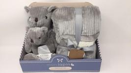 Monlapin 3 Piece Gift Set w/Blanket, Stuffed Toy & Baby Rattle
