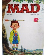 MAD Magazine March 1963 No 77 Alfred With Arrow On Head Original Vintage... - $14.80
