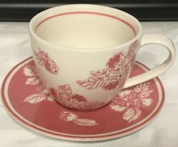 Large Starbucks Coffee Tea Pink Berries Raspberries 2007 Cup Saucer 13 O... - $29.65