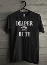 Diaper Duty Funny Gas Mask Men's T-Shirt - Custom (2253) - $19.12+