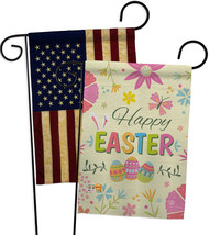 Happy Easter Colourful Flowers - Impressions Decorative USA Vintage - Applique G - $30.97