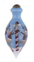 Reindeer Dance Ne'Qwa Art Merry Christmas Ornament Reverse Painted Glass... - $24.74
