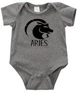 VRW Aries Unisex Creeper Romper Birthday Baby Reveal Baby Shower (Grey, NB) - $14.84