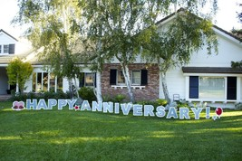 Happy Anniversary Outdoor Yard Lawn Greeting Sign Announcement Decoratio... - $52.46