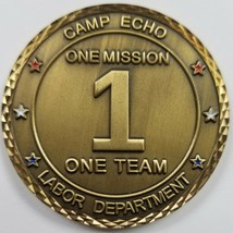 US Army CAMP ECHO Iraq Labor Department Serialized #040 Challenge Coin - $74.24
