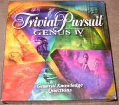 TRIVIAL PURSUIT GENUS IV GENERAL EDITION GAME 1996 PARKER BROTHERS COMPL... - $20.00