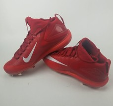 newest 09383 7718d Nike Force Zoom Trout 3 sz 13 Metal Baseball Cleat 856503 667 Red White .