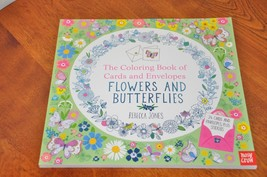 Set of 2 Adult Coloring Books  Flowers and Butterflies and Cats for Mind... - $7.92