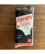 HANES Cotton White Briefs Vintage 1992 NOS 3 Pack Size 38 NWT New - $26.59