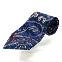 Wembley Starshine Multi color Abstract Blue Burgundy Teal White Neck Tie... - $15.53