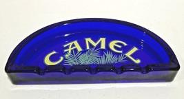 Cobalt Blue Glass CAMEL Cigarette Ashtray - $6.99