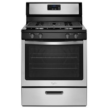 "New NO SHIP Whirlpool 30"" Gas Range Stove stainless, black- Sealed Burners - $669.95"