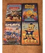 4 NEW DVDs: Surf's Up 2, Emoji Movie, Smurf's: The Lost Village, Tubby t... - $10.99
