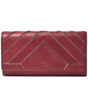 Fossil Emma Rfid Flap Clutch Wallet (Cabernet) - $64.35