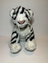 Build A Bear Black White Siberian Tiger Plush Stuffed Animal BABW 024335 - $13.99