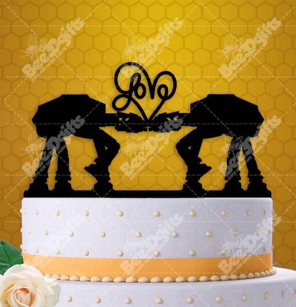 AT-AT Walker Love Cake Topper and similar items