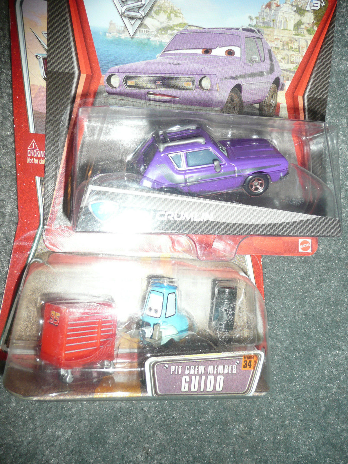 NEW WORLD OF CARS LOT OF 2 GUIDO AND DON CRUMLIN DEAL DISNEY PIXAR CARS CARS 2