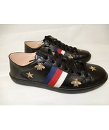 Gucci Black Bumble Bee Leather Sneaker Shoes NEW $850 - $695.00