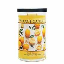 Village Candle Fresh Lemon Large Tumbler Scented Candle 19 oz Yellow - $36.13