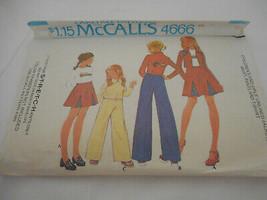 Vintage 70s Girls Size 7 McCalls skirt pants jacket pattern 4666 - $9.89