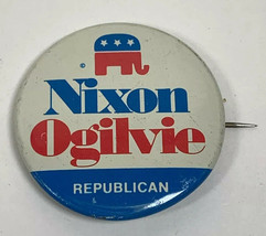 Nixon Ogilvie 1972 Campaign Button Presidential Vote Original - $2.96