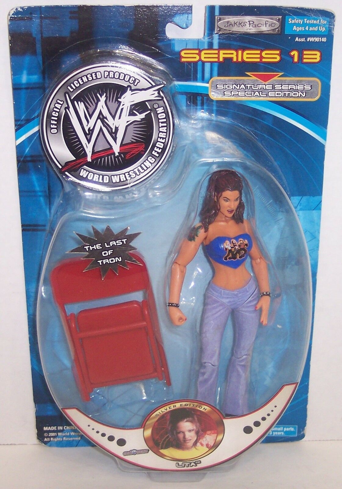 "Primary image for New! 2001 Jakk's Pacific Signature Series #13 ""Lita"" Action Figure WWF WWE [856]"