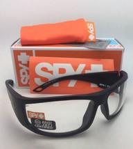 New SPY OPTIC Sunglasses TACKLE 69-14 Matte Black Frame w/ ANSI Z87.1 Clear Lens