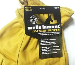 Wells Lamont Premium Cowhide Leather Work Gloves Medium NEW image 3