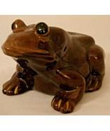 Frog Bank Ceramic Japan Glazed 1960s Vintage with Stopper Brown - $24.99