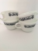 Set of 4 Vintage Pyrex Old Town Blue Coffee Tea Cups - $5.90